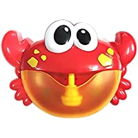 Etopfashion Crab Bubble Machine Batería para niños Electric Music Bath Bubbler Niños Baby Bath Toys Bathing