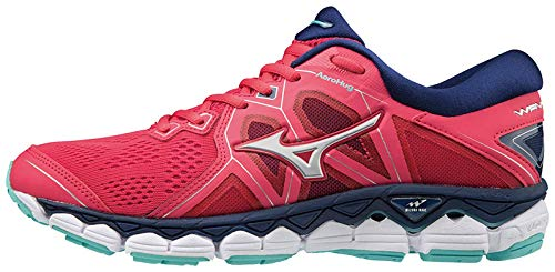 Mizuno Wave Sky 2, Scarpe da Corsa Donna, Multicolore (Teaberry/Silver/Blue Depths), 39 EU