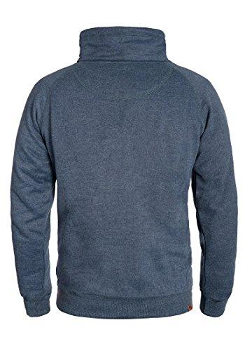 BLEND Alec Herren Sweatshirt Pullover Sweater mit Stehkragen aus hochwertiger Baumwollmischung Navy (70230)