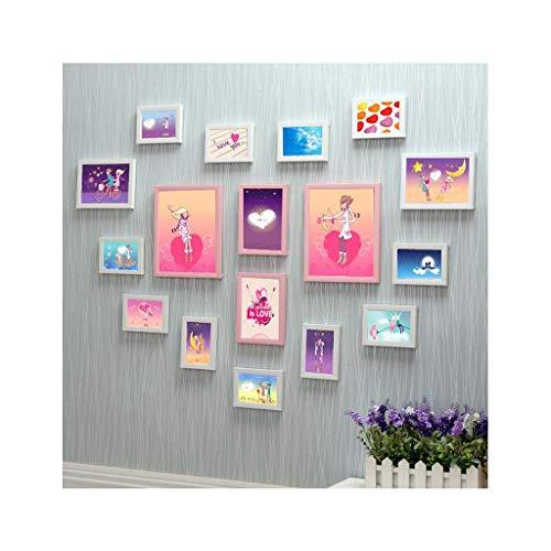 Fotowand Wohnzimmer 17 Box herzförmige fotowand kreative romantische Kombination Foto Rahmen Hochzeit Zimmer Schlafzimmer Wand (Farbe : C) -
