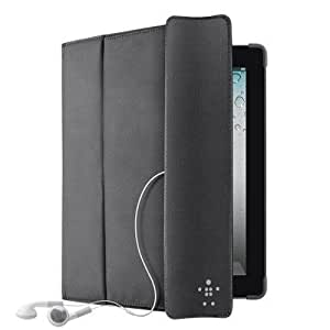 Etui à rabat Belkin noir en nylon pour iPad 2/3