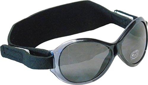 Edz Kidz Sunnyz Sonnenbrille für Babys unter 2 Jahren Mit Kopfband! (Schwarz AC60)