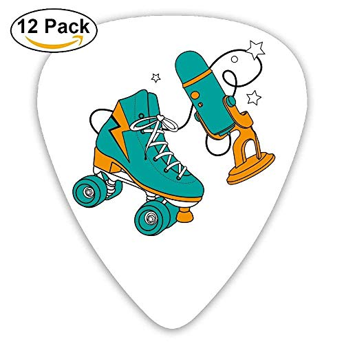 Roller-skating Shoes Classic Guitar Pick (12 Pack) for Electric Guita Bass