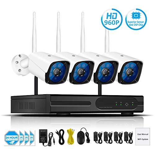 Space element Drahtloses Überwachungskamerasystem, HD1080P 4-Kanal-WLAN-IP-Überwachungskamera mit drahtlosem CCTV 2.0MP 3.6mm Objektiv Auto-Pair Vorinstallierte 2-TB-Festplatte - In Der Nacht Cctv-kamera-sicherheitssystem