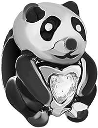 Abalorio de Uniqueen con diseño de Kung Fu panda compatible con pulseras europeas
