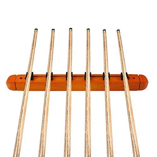 broadroot Billard Pool Rack Wandhalterung Aufhänger 6Halter aus Cue Sticks - Cue-racks Pool