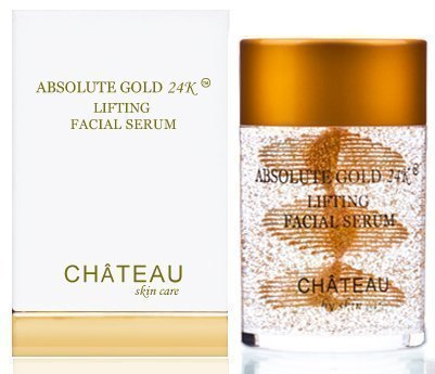 ABSOLUTE GOLD 24K LIFTING FACIAL SERUM - 24 Karat Gold, Silk Peptides and Hyaluronic Acid. Excellent For All Skin Types. 2Fl.oz-60ml. (FRAGRANCE FREE, CRUELTY FREE, PARABEN FREE, PETROLEUM FREE).