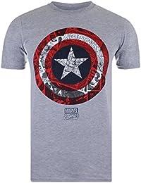 Marvel Men's Ca Comic Shield T-Shirt