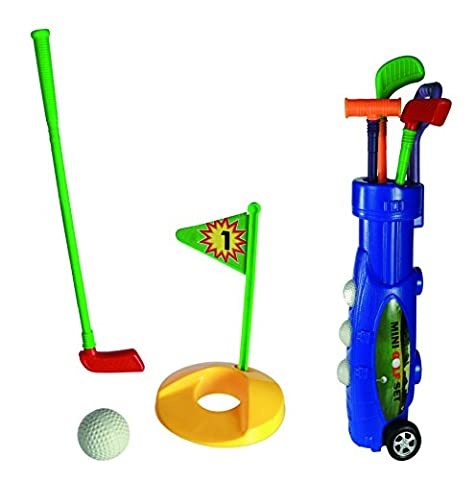 Traditional Toy - Plastic Golf Caddy - My First Golfing Set - Ideal Stocking Filler, Christmas Sports Gift Idea For Boys, Girls, Children Kids - One Set Supplied