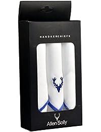 Allen Solly Men's Handkerchief - Pack of 3 (White Royal Blue)