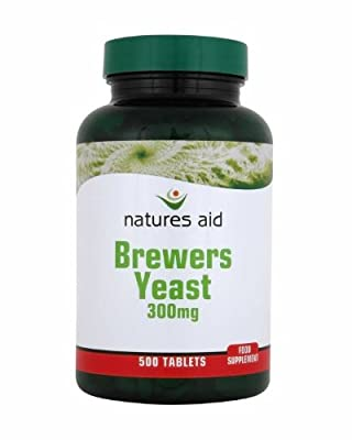 THREE PACKS of Natures Aid Brewers Yeast 300mg 500 Tablets