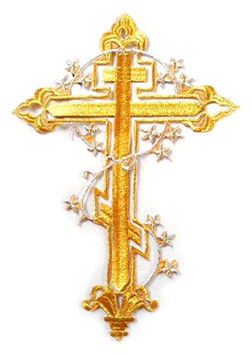 i Kreuz Gold Silber Linie Nähen Bügeleisen auf Patch Badge Bag Hut Jeans Kleid Applique Handwerk für Dekor (Gold) ()