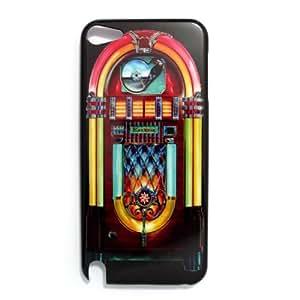 wipods Coque pour iPod Touch 5–Jukebox Musique Rétro coque arrière rigide pour Apple iPod Touch 5G 55ème génération