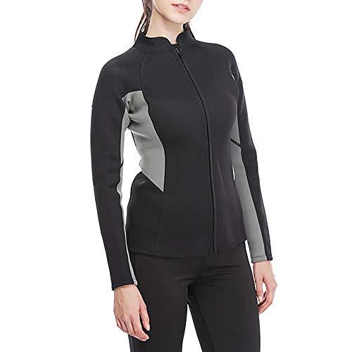 GanzköRper-Split-Tauchanzug Surfkleidung Frau Split Dicke Warme Sonnencreme Tauchanzug Ideal FüR Tauchen, Schwimmen Verstellbarer Hals,XL