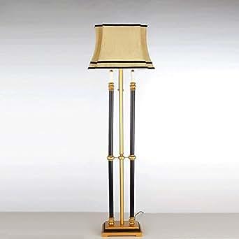 classical villa engraving resin metal floor lamp vintage bedroom living room e27 cloth art. Black Bedroom Furniture Sets. Home Design Ideas