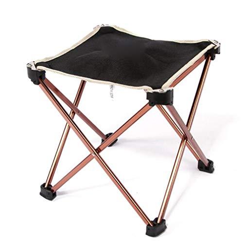 SZP Tabouret de Pliage en Plein air, Tabouret de pêche en Aluminium, Ultra-léger Portable Chaise de Camping carrée, approprié pour l'intérieur et l'extérieur
