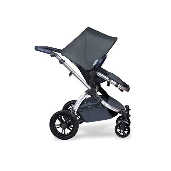 Ickle Bubba Stroller, Baby Travel System | Bundle incl Rear and Forward-Facing Pushchair, Car Seat, ISOFIX Base, Carrycot, Footmuff and Raincover | Stomp V4 Special Edition, Woodland Chrome Ickle Bubba DO-IT-ALL TRAVEL SYSTEM: Features luxury carrycot, reversible pushchair, and Galaxy Group 0+ lined car seat and ISOFIX base. Easy-click release allows for quick transitions between car and stroller LIGHTWEIGHT, QUICK FOLD: 6.5kg chassis with wheels. BUILT IN STORAGE: Matching stow away bottom basket with high sides for increased storage; changing bag with shoulder strap and mats included FORWARD AND PARENT FACING TODDLER SEAT: The multi-position recline allows your child to lie comfortably for naps or sit upright to take in the sights. 5