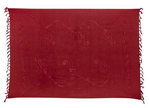 Kascha Trading - Copricostume -  donna Stickerei Weinrot