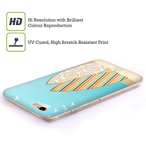 Head Case Designs Palmier Planches De Surf Étui Coque en Gel molle pour Apple iPhone 5 / 5s / SE Modèle