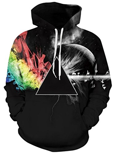 BFUSTYLE 3D gedruckt Hoodie Neuheit Dreieck Galaxy Pullover für Herren Damen Damen Unisex Sweatshirt Pullover mit großer Tasche (Tasche Neuheit)