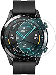 2 Pack for Huawei Watch GT2 46mm Screen Protector Anti Scratch Tempered 0.33mm, Anti Scratch, Bubble Free Glas