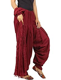 Kalpit Creations Women's Premium Cotton Traditional Handmade Readymade Semi Patiala Salwar With Dupatta 100% Cotton...