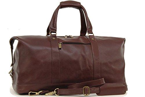 Reisetasche/Freizeittasche/Sporttaschevon Leder von Ashwood - Cognac Braun - GRÖßE: H 40 cm x B 64 cm x T 30,5 cm