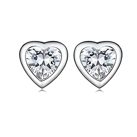 Sreema London Argent 925/1000 Argent sterling Pear Cut Incolore Zirkonia