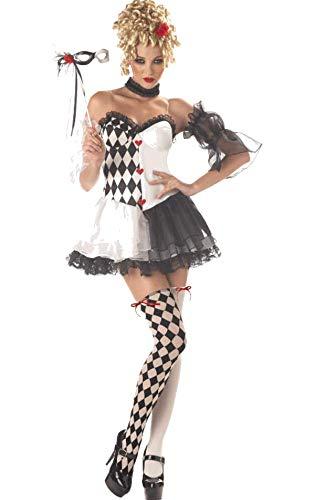 Kostüm Harlekin Sexy Clown - Generique - Sexy Harlekin Kostüm für Damen