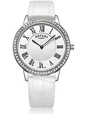Rotary LS00358/06/W Damen-Armbanduhr Analog Quarz Leder