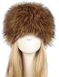 Kairuun Mujeres del Ruso Cossack Estilo Faux de Piel de Conejo Invierno  Cálido Sombrero Tamaño 58 3d20c66906b