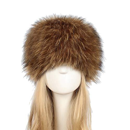 Kairuun Mujeres del Ruso Cossack Estilo Faux de Piel de Conejo Invierno  Cálido Sombrero Tamaño 58 07f60b03032
