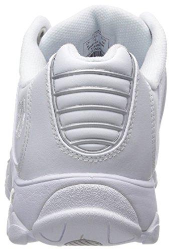 K-Swiss ST329 CMF Cuir Baskets White-Silver