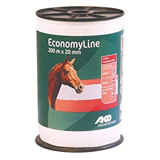 AKO Electric Fence: Economy Line Tape 20mm x 200m