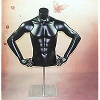HeuSa Tech Window mannequin Torso Male Matt Black
