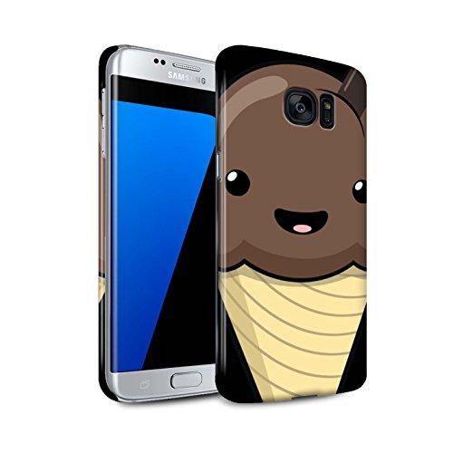 Mobile-edge-schokolade (Stuff4® Glanz Snap-On Hülle/Case für Samsung Galaxy S7 Edge/G935 / Schokolade EIS Muster/Kawaii Essen Kollektion)