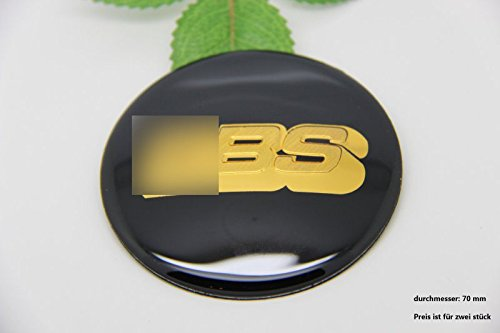 R214 BB 2 stück Felgendeckel schwarz gold 3D Emblem Abziehbild Auto Aufkleber Nabendeckel Radkappen Nabenkappen 70 mm - Jeep Nabendeckel Schwarz