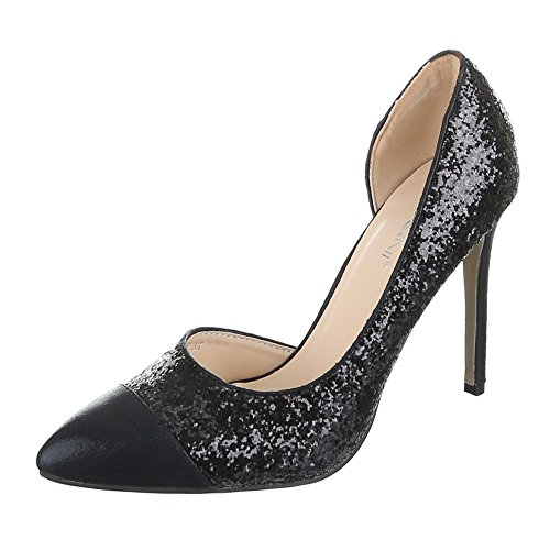 Ital-Design, Q305–3, escarpin stiletto Noir - Noir