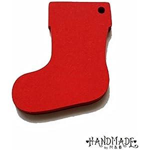 Geschenkanhänger Papieranhänger Tags Etiketten Weihnachten Stiefel