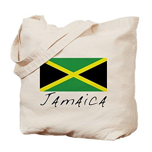 CafePress–Jamaika (Flagge, Welt)–Leinwand Natur Tasche, Reinigungstuch Einkaufstasche Tote S khaki