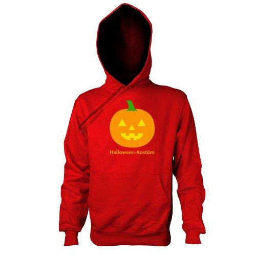 TEXLAB - Halloween Kostüm - Kapuzenpullover, Herren, Größe XXL, rot (Geek Halloween Kostüme Für Männer)