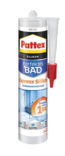 Pattex 1603160 Express Silicone, Blanc