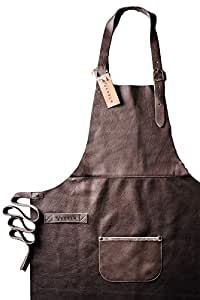 Vedgla leather apron, grill apron, cook's apron, waiter's