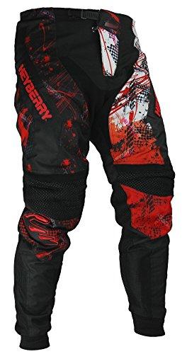 HEYBERRY Motocross Enduro Quad Hose schwarz weiß rot Gr. XL