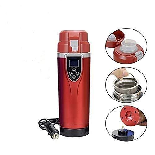 DXP-shop 12V Hervidor Eléctrico Taza del Viaje Portable 350ml Control Preciso De La Temperatura De Descongelación Inteligente USB Calefacción Taza De Ebullición De La Taza For Café Té Agua Leche
