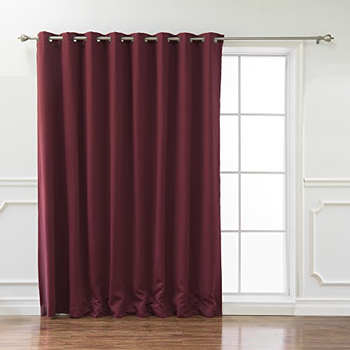 Best Home Fashion Vorhang zur Wärmedämmung mit breit Breite Tülle Top, burgunderfarben, 100W x 96L