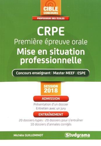 CRPE Premire preuve orale : mise en situation professionnelle