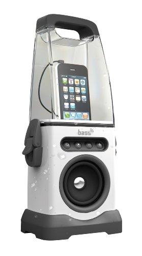 Steinbach Soundsystem bass Beach, tragbares Lautsprechersystem mit LED-Beleuchtung, Weiß, 1,41 kg