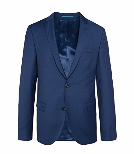 Michaelax-Fashion-Trade - Blazer - Uni - Manches Longues - Homme Bleu - Deep ocean blue