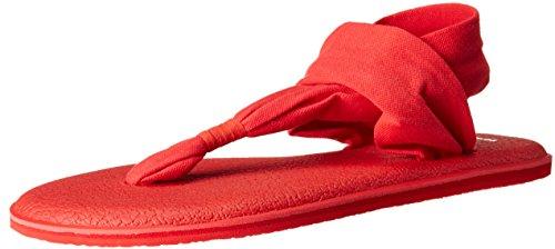 Sanuk Damen Yoga Sling#2 Spectrum Zehentrenner Rot (Tomato) 37 EU -